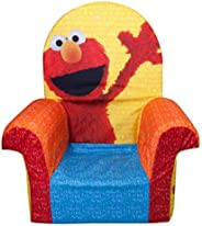 Marshmallow Furniture Comfy Foam Toddler Chair Kid's Furniture for Ages 2 Years Old and Up, Friendly Elmo