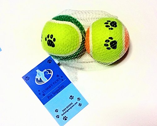 Yummy-Paws-Dog-Toys-Plush-Squeak-BoneRope-with-Ball-And-Bonus-Fetch-balls-for-DogsPuppies-Intractive-5-Pack-Gift-SetTug-O-WarFetch-Pet-Chew-Toy-colors-may-very