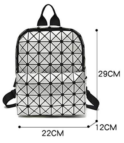 Di Zaini A Zaino Silicone In Con Coreano Zaino Rombo Geometrici Pieghevole Zaino Forma C Con pfxgxqI