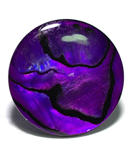 Purple Abalone Shell - Bright Purple Abalone Paua Shell Tie Pin Tack (056)