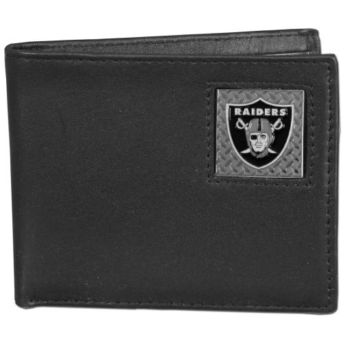 NFL Oakland Raiders Gridiron Leather Bi-Fold Wallet by Siskiyou