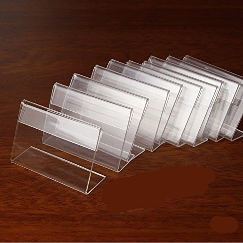 Mini Sign Display Holder Price Card Tag Label Counter Top Stand Case 7cm x 4cm ()