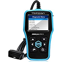 Car Computer Diagnostic, TT TOPDON Universal Car Code Reader Professional OBD2 Scanner Read and Clear Engine Codes OBD2 Full Function with O2 Sensor Test and On-board Monitor Test (Plus 2.0)