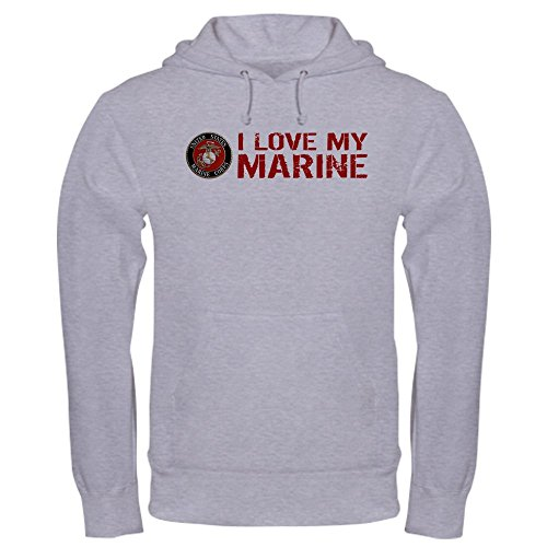 CafePress USMC: I Love My Marine - Pullover Hoodie, Classic & Comfortable Hooded Sweatshirt - Usmc Warm Up Jacket