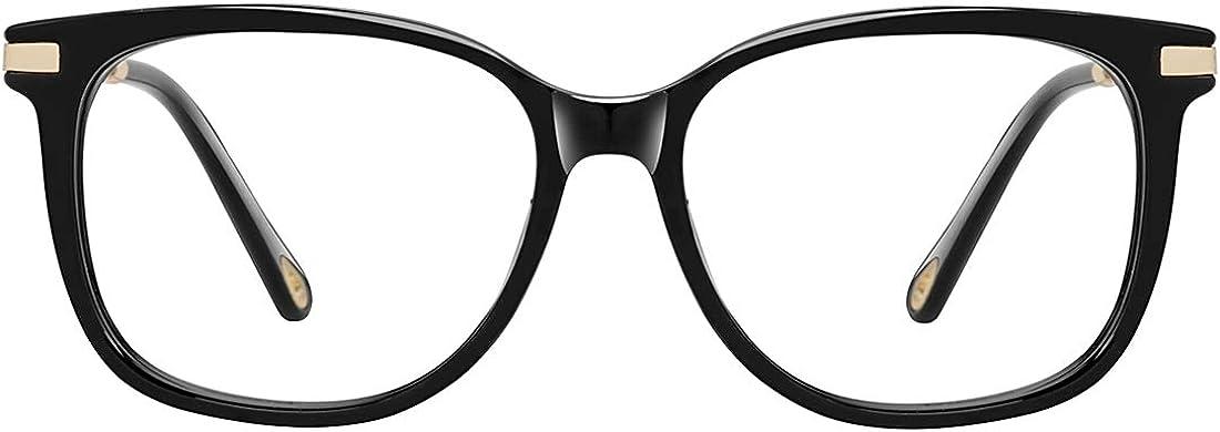 Fake Glasses Vintage Round Eyewear Frame Unisex Stylish Non-prescription Clear Lens Eyeglasses Fashion Glasses for Women Men Tortoise