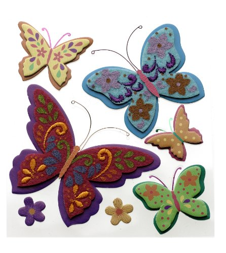 Jolee's Boutique Dimensional Stickers, Colorful Butterflies