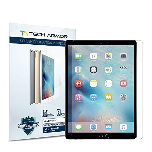 "iPad Pro (9.7"") Screen Protector, Tech Armor Anti-Glare/Anti-Fingerprint Apple iPad Pro 9.7-inch Film Screen Protector [2-Pack]"