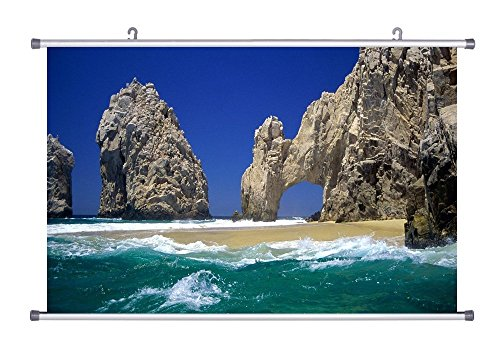 Cabo San Lucas Mexico - Art Print On Canvas Wall Scroll Poster - 28x20 (San Luca Scroll)
