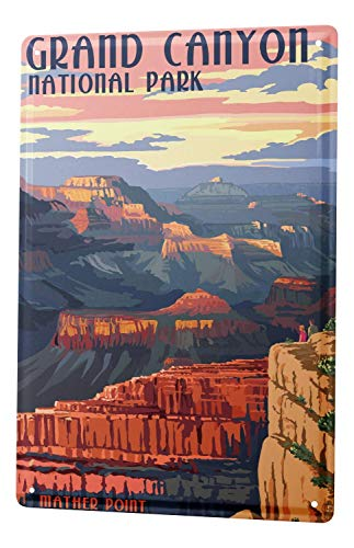 - Tin Sign Holiday Travel Agency Grand Canyon Size 8x12 inch