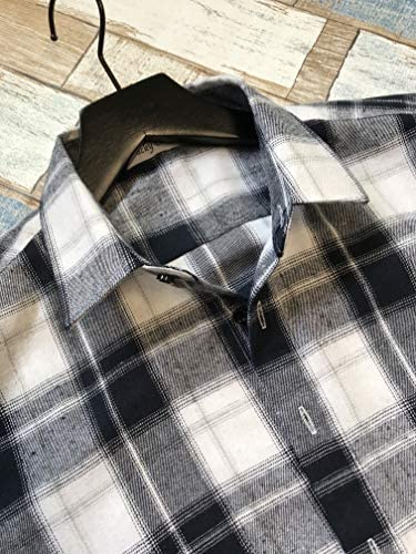[ラッキーチャーム] カジュアル チェック柄 レギュラーカラーシャツ 長袖 メンズ