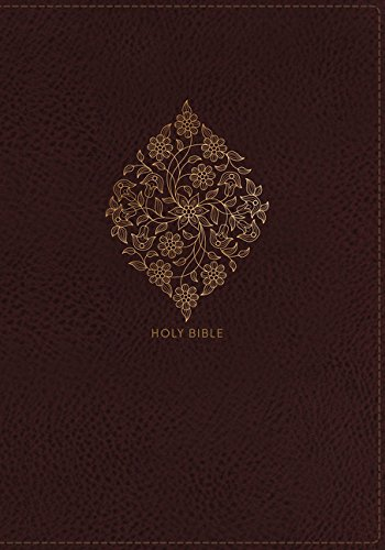 NKJV, Deluxe Reference Bible, Center-Column Giant Print, Leathersoft, Burgundy, Red Letter Edition, Comfort Print