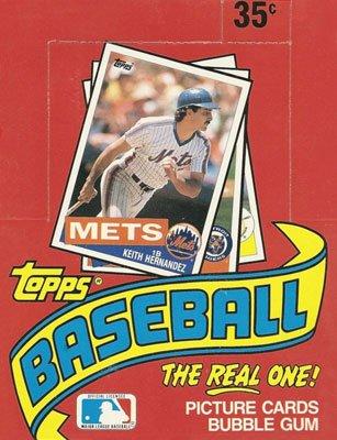 Amazoncom 1985 Topps Mlb Baseball Box 36 Pk Collectibles Fine Art