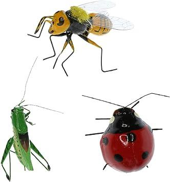 FLAMEER 3 Unids Insecto Realistas Decoración Interior o Exterior - Insectos Animales Juguete Modelo para Decoración de Plantas, Adornos de Jardín: Amazon.es: Juguetes y juegos