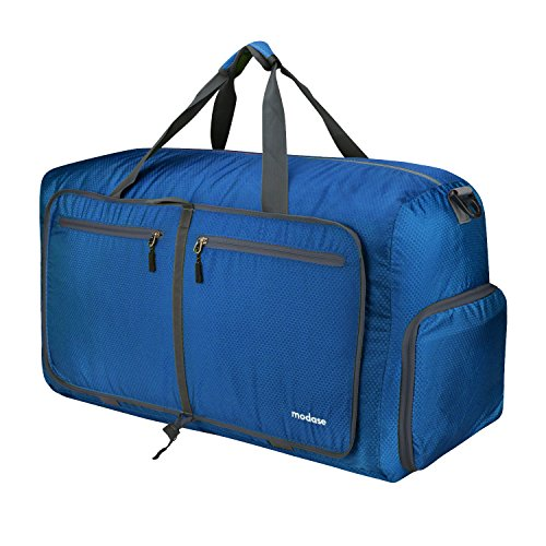 modase 80L Travel Duffel Bag Large Foldable Duffle Bag with Shoulder Straps for Women & Men - Lightweight Travel Bag with Big Capacity, Water Resistant