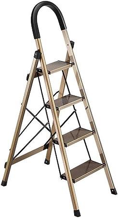 Xsgsgfs Escaleras Plegables peldaños, Escalera de Paso de Aluminio de Alta Resistencia de 3/4 Pasos Plegable Paso a Paso para el hogar portátil con tapete Antideslizante (Size : 4 Steps): Amazon.es: Hogar