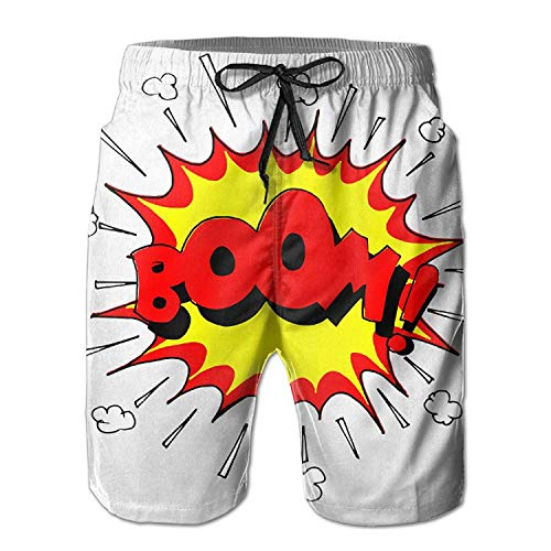 Explosion Zkhto Men Comic Board drying Nice Shorts Boom Quick CAwqxf7