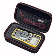 RLSOCO Carrying case for Fluke 117/115/116/114/113 Digital Multimeter and Fluke F15B+F17B+F18B+, Fluke 87, Neoteck Pocket Digital Multimeter, Crenova MS8233D, Extech EX330 and more