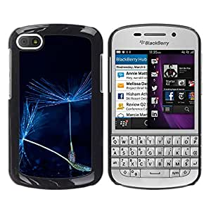 MOBMART Carcasa Funda Case Cover Armor Shell PARA BlackBerry Q10 - Moonlight Floral Whips
