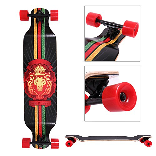 Complete Longboard 41 x 9.5 in. Cruiser Speed skateboard Downhill Canadian Maple from Unknown