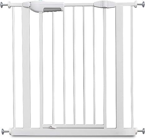 LSRRYD Valla Seguridad Infantil Plástico ABS Barreras para Puertas Y Escaleras 90°Auto Close Doble Bloqueo Instalación Fácil para Perros Y Mascotas (Size : 75cm): Amazon.es: Hogar
