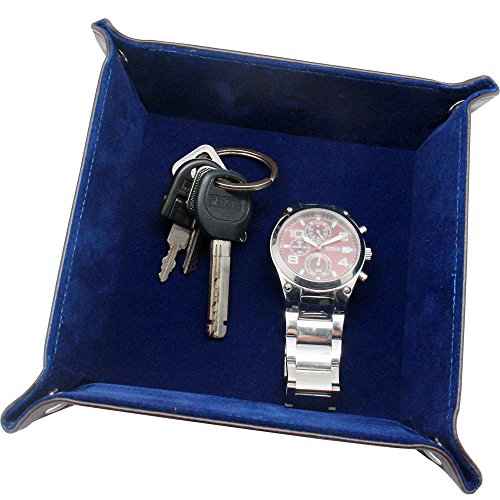 Boshiho Leather Jewelry Catchall Key Phone Coin Box Valet Tr