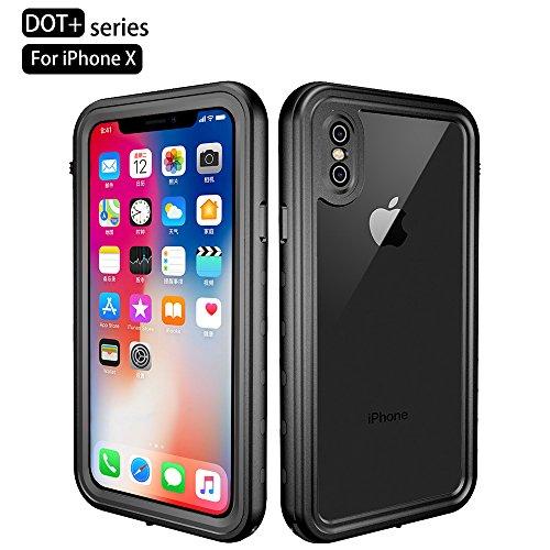 RedPepper iPhone Xs Waterproof Case, Underwater Full Sealed Cover Shockproof Dirtproof Snowproof IP68 Certified Waterproof Case with Built-in Screen Protector for iPhone Xs-(5.8inch)
