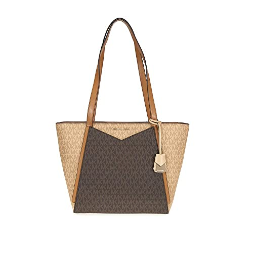 ef80ead73f07d8 Amazon.com: MICHAEL MICHAEL KORS Whitney Small Logo Tote  (Butternut/Brown/Acorn): Shoes