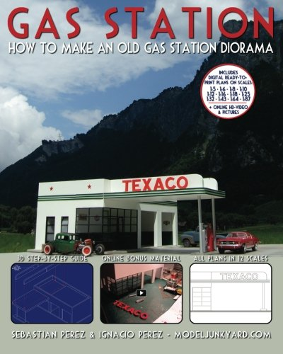 Gas Station: How to make an old gas station diorama