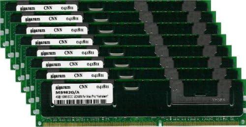 8x4GB Gigaram 32GB DDR3-1066 ECC DIMM for Apple Xserve 8-Core 2.60Ghz Intel Xeon Nehalem Heat Sink Apple# 8 x MB982G//A