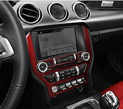 GZXinWei Carbon Fiber Car Styling Sticker Decals Central Control Panel Interior,Red