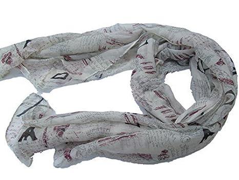 c0895a3c27e PARIS TOUR EIFFEL STYLE VINTAGE imprimé mode pour Femmes écharpe châle  paréo enveloppant - par fat