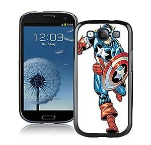 Captain America Case For Samsung Galaxy S3 i9300 Black
