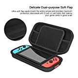 Travel Carrying Case for Nintendo Switch, iVAPO Protective Case for Switch Console Shock Resistance Bag for Nintendo Switch (2017)-Black