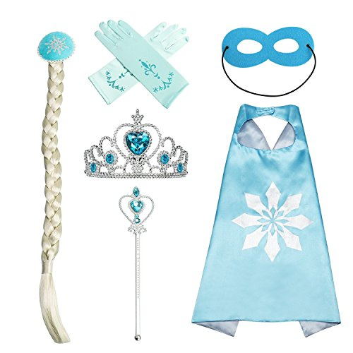 Princess Dress UP Accessories Blue 6 Pieces