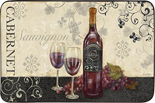 """J&V TEXTILES Chef Series 18""""x30"""" Antifatigue Kitchen Mats (Wine Swirl)"""