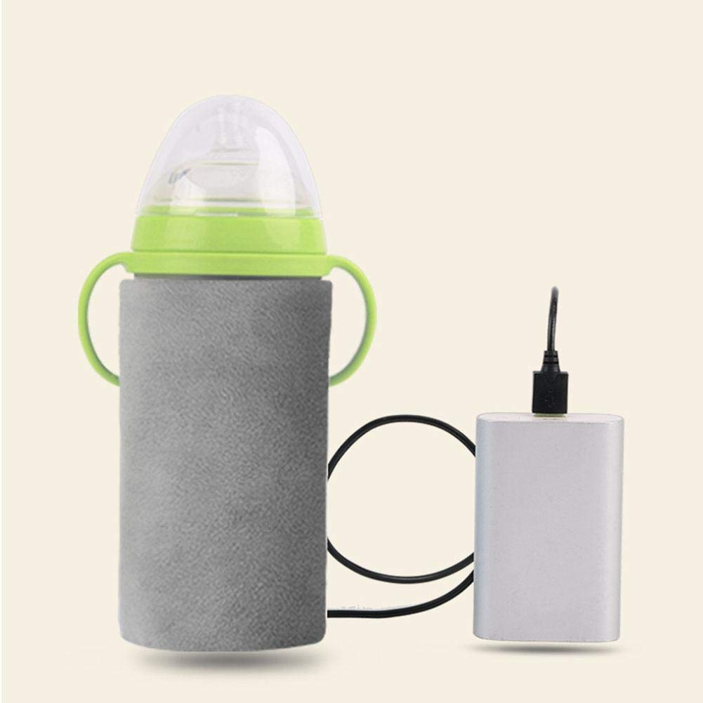 Baby Bottle Heat Insulated Cover Baby Bottle Holder Car Vehicle Travel Milk Warmer Heater Water Bottle Cup with USB Charging Port to Keep Warm flyvirtue
