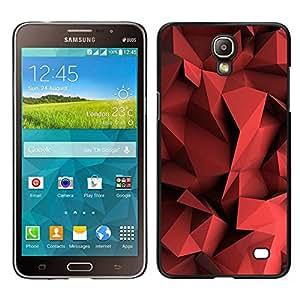 For Samsung Galaxy Mega 2 G7508 - Red Blood Polygon Plastic /Modelo de la piel protectora de la cubierta del caso/ - Super Marley Shop -
