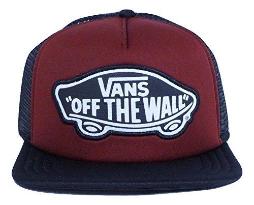 (Vans Women Beach Burgundy Girl Classic Patch Trucker Hat)