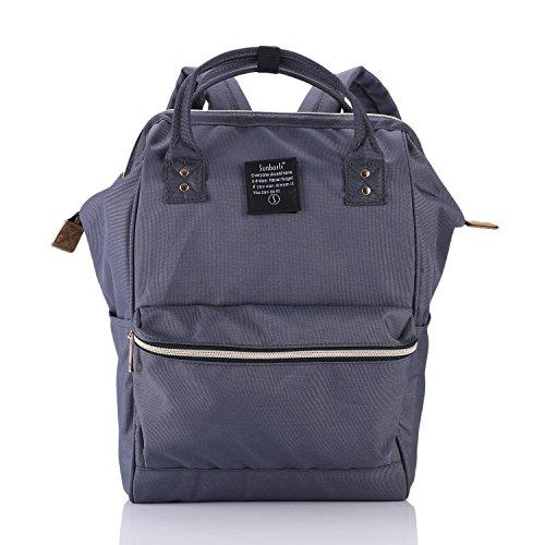 Canvas Rucksack für Mädchen,Mode Streifen Schulrucksack Daypack Teenager Schultasche mit Der Großen Kapazität durch Termichy (Dunkelgrau)