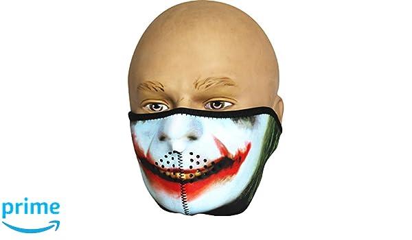 Viper neopreno media Cara Máscara de calavera de Joker: Amazon.es: Deportes y aire libre