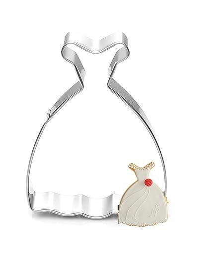 DAYAN Vestido princesa del vestido galleta cortador Fudge Cake herramientas jalea Moldes 3pcs