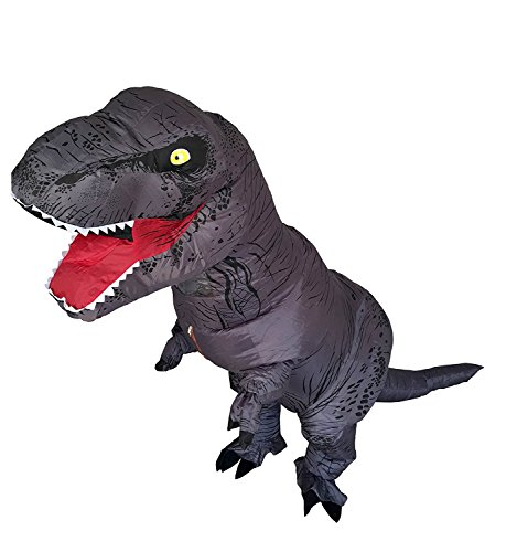 T-Rex Dinosaur Inflatable Costume Halloween Cosplay Blow up Outfit Fancy Dress with 2 Fan Blowers by YOWESHOP (Image #2)