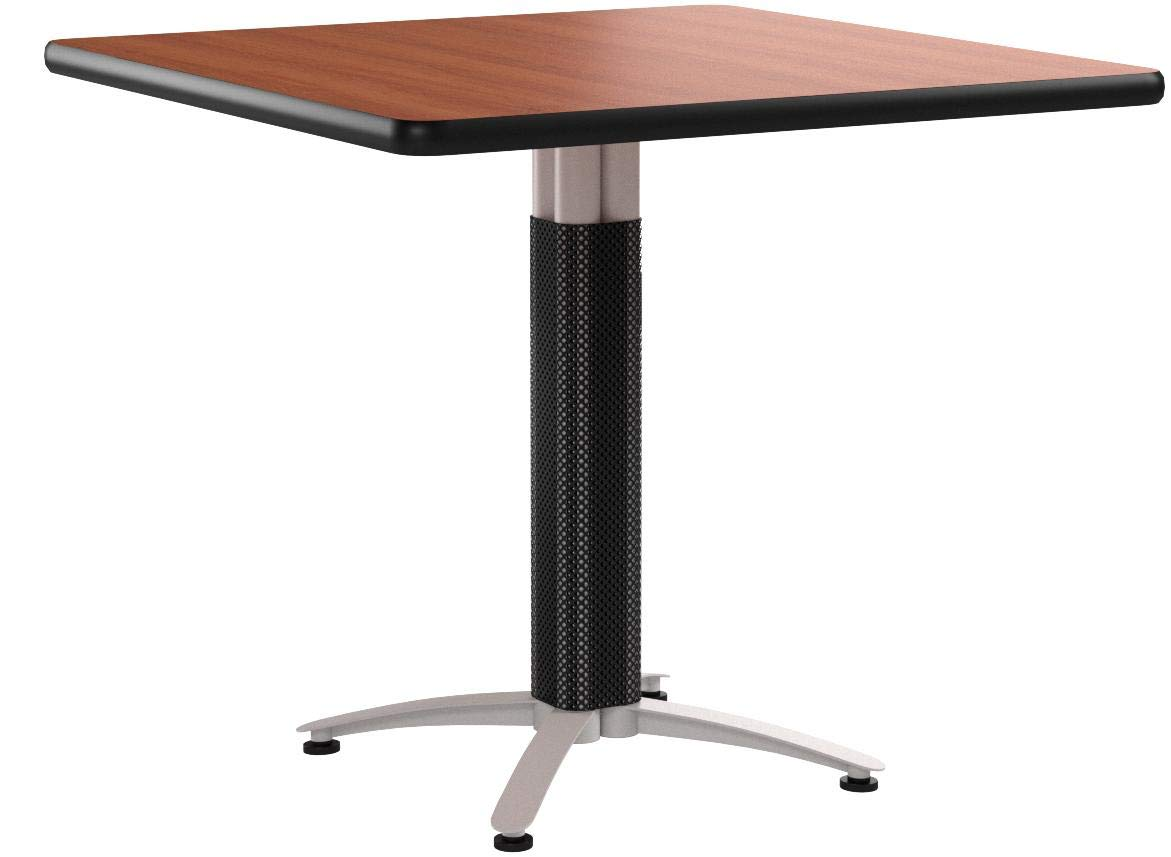 OFM Multi-Purpose Square Table with Metal Mesh Base, 42'', Cherry by OFM