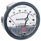 Dwyer® Magnehelic® Differential Pressure Gage, 2010-ASF, 0-10'' w.c. with Adjustable Signal Flag