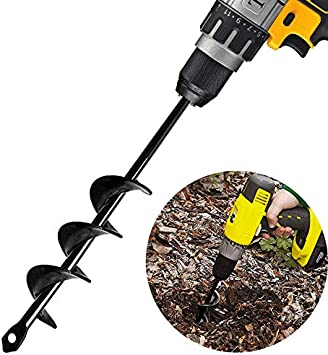 "Non-Slip Gardening Auger Drill Bit 1.6/"" x 18 /"" Garden Plant Flower Bulb HEX Shaft Auger Earth Auger Bit Post or Umbrella Hole Digger for Planting Bedding Bulbs ,HEX Shaft Auger"