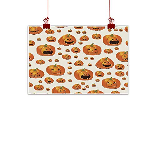 duommhome Abstract Painting Halloween Background with Pumpkins Abstract Painting 20