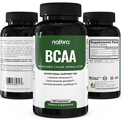 Top Rated BCAA Capsules, 60 Ca...