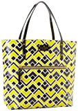 Kate Spade New York Flicker Fabric-Bon  Tote,Fire Fly/Stone,One Size, Bags Central