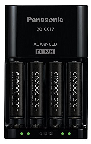 Panasonic K-KJ17K3A4BA Advanced Battery Charger Pack with 4 AAA Eneloop Pro High Capacity Ni-MH Rechargeable Batteries