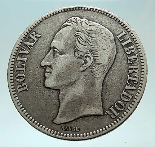 1902 unknown 1902 Freemason President Simon Bolivar VENEZUELA coin Good Uncertified
